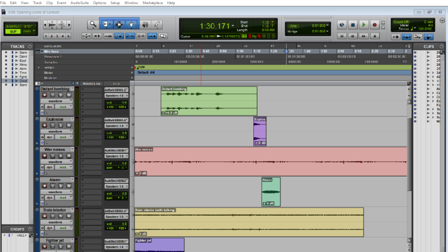 ProTools session